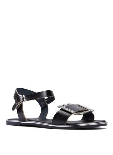 Sole Sisters Düz Sandalet Siyah - Hidalgo Siyah